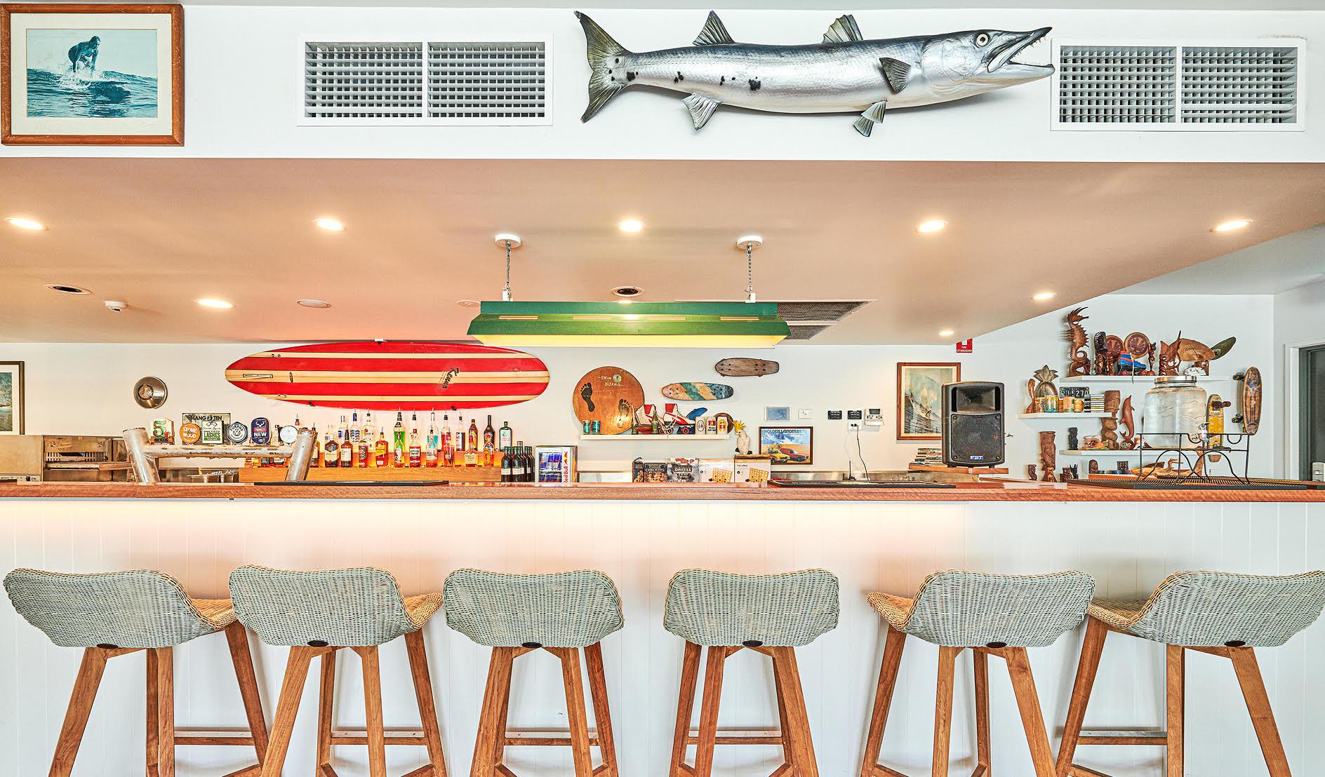 The Surf House Bar area