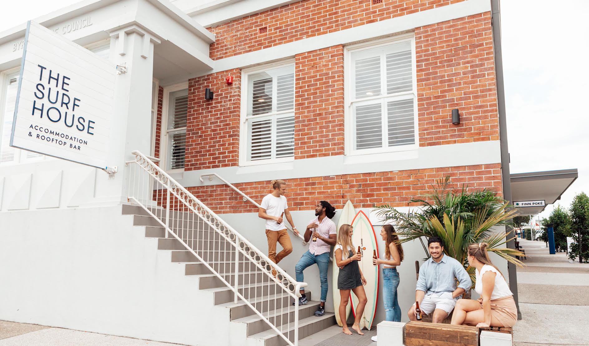 The Surf House Facade